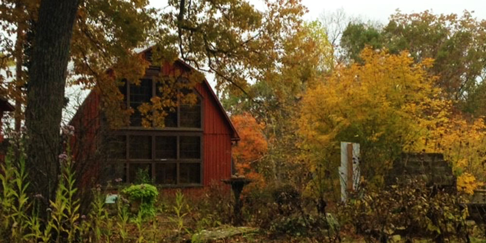 The Large Studio in autumn at the T.C. Steele State Historic Site