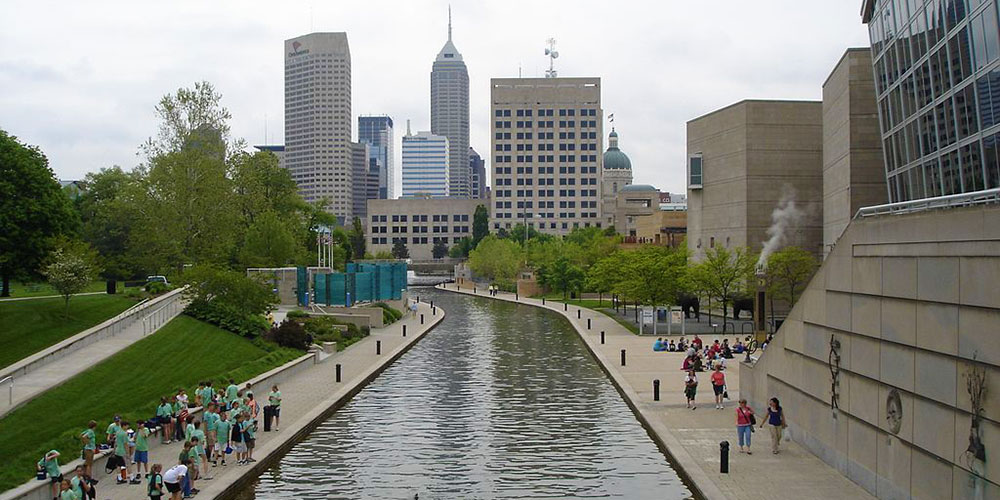 Canal Walk in downtown Indianapolis